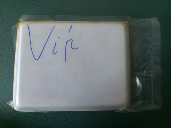 Có chữ Vip ở mặt sau của bao bì